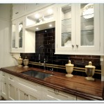 white cabinet dark countertop