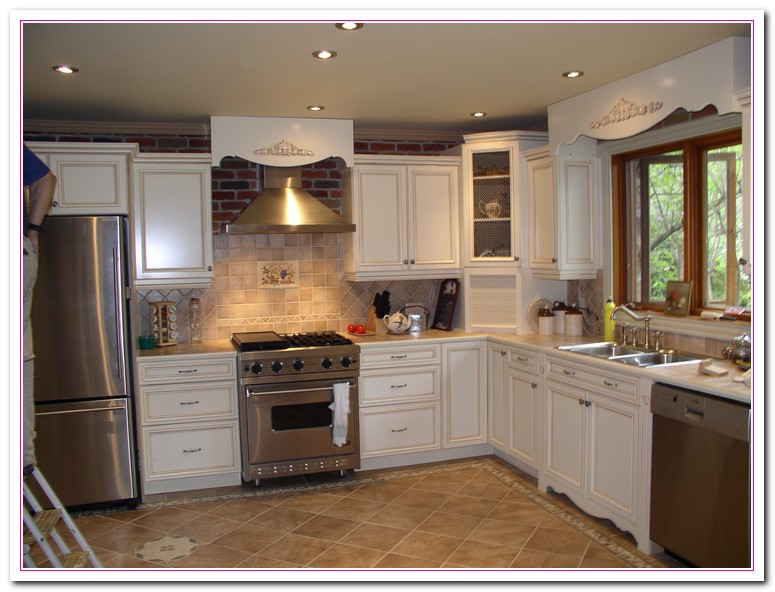 White kitchen design ideas within two tone kitchens home and cabinet reviews for Kitchen cabinet options design