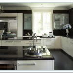 white cabinets dark countertop