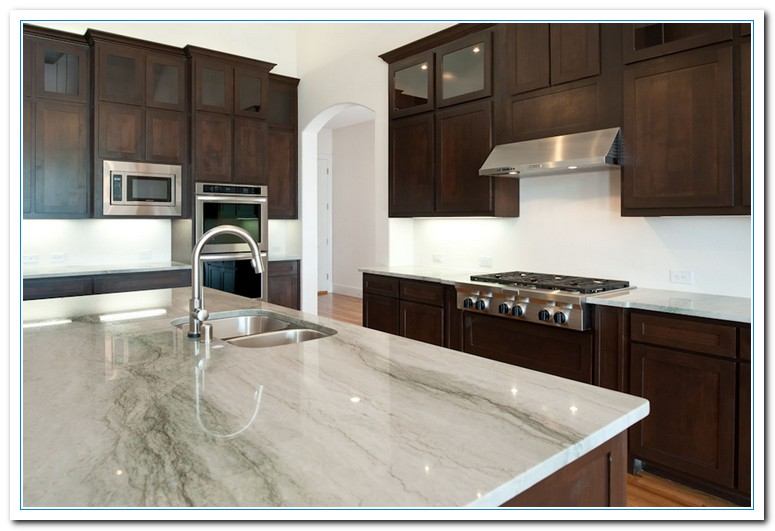 White cabinets dark countertops details home and cabinet reviews - White kitchen dark counters ...