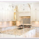 Working on White Granite Countertop for Luxury Kitchen