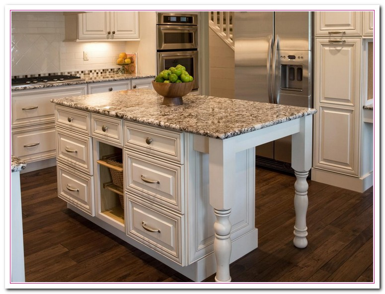 Light Brown Kitchen Island