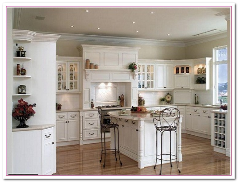 white or wood kitchen cabinets