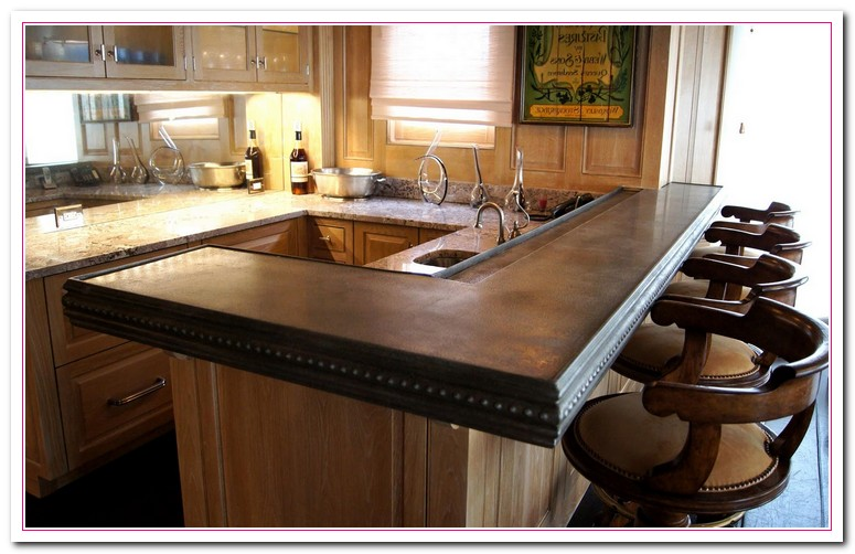 wood bar countertop ideas