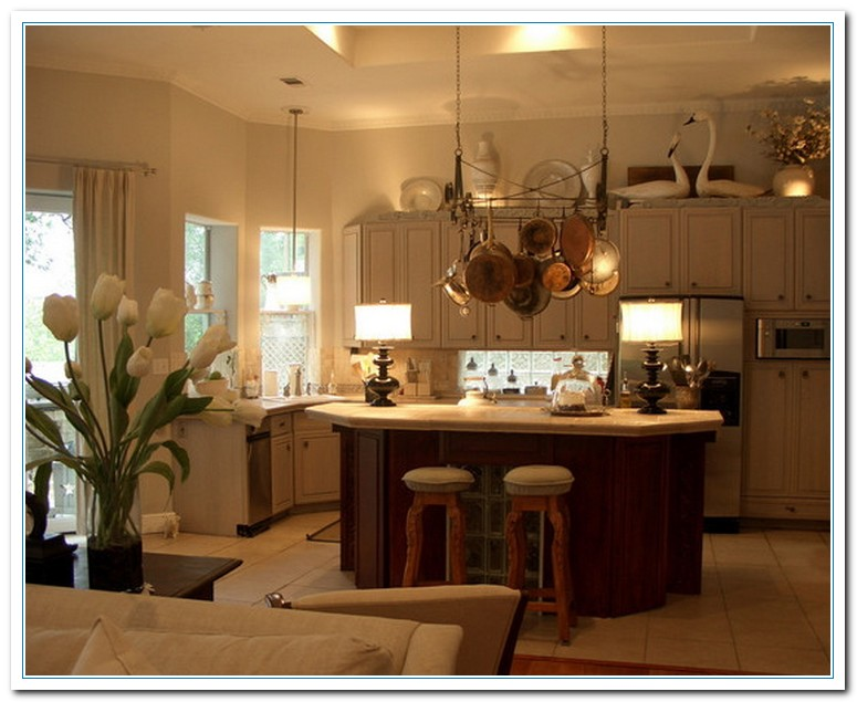 Tips for kitchen counters decor home and cabinet reviews How to decorate top of cabinets