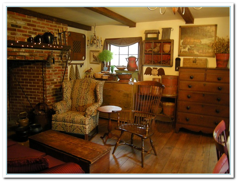 Primitive Living Room Decor