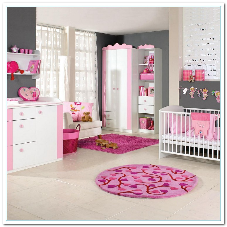 The painting color combination for baby 39 s bedroom home Baby girl decorating room