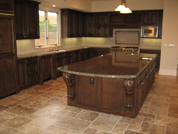 Brown Granite Kitchen Countertops : How to decorate brown themed kitchen design home and
