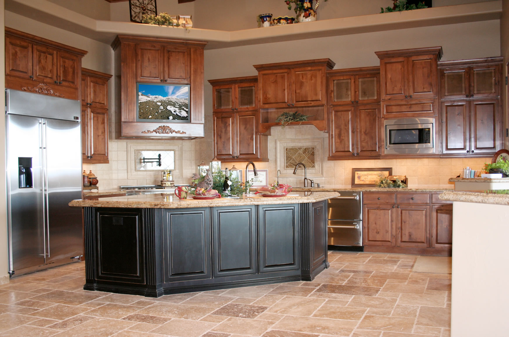 How to pick the best color for kitchen cabinets home and for Darken kitchen cabinets