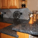 blue granite kitchen