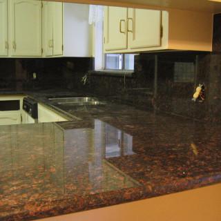 brown quartz countertop