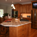 Woody Countertop Kitchen Tables