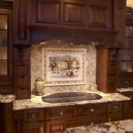 kitchen backsplash idea for dark cabinets