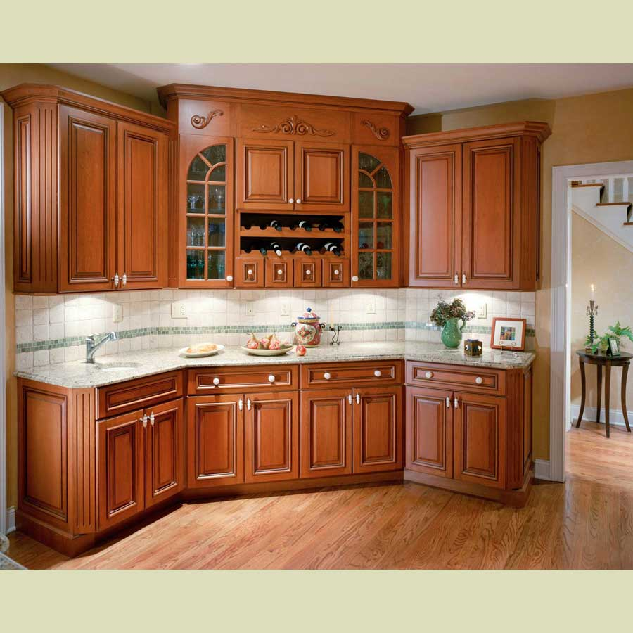 Wall With Three Kitchen Cabinets