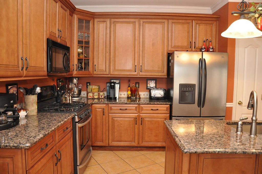 Design In Wood What To Do With Oak Cabinets: Low Budget Home Depot Kitchen