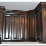 black walnut kitchen cabinets