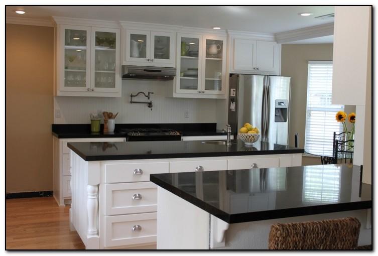 Elegant Granite Countertop Kitchens : Kitchen with black countertops for elegant design home
