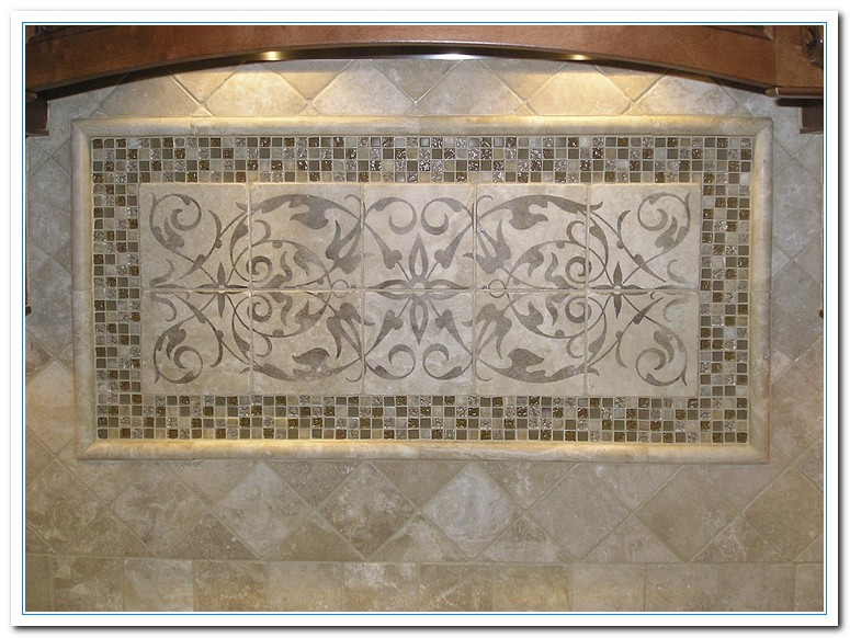 Tile backsplash designs home and cabinet reviews for Ceramic tile mural backsplash