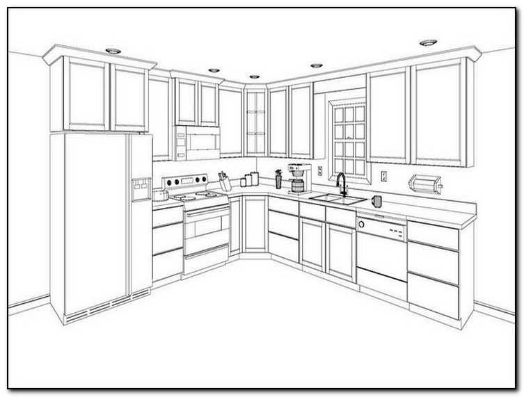 Finding your kitchen cabinet layout ideas home and for Kitchen furniture layout