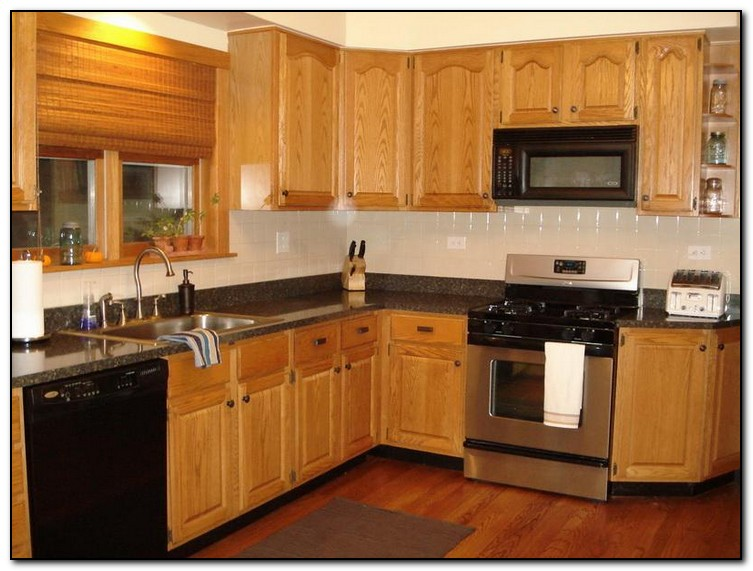kitchen color ideas with oak cabinets and black appliances recommended kitchen color ideas with oak cabinets home 984