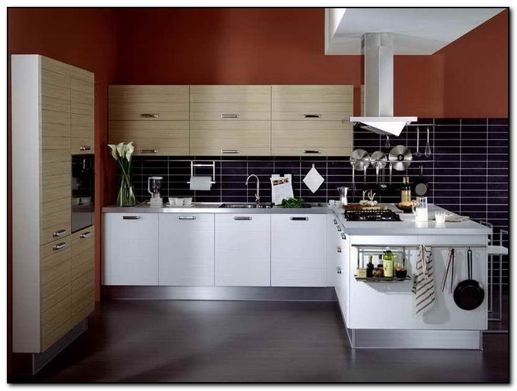 kitchen island different color than cabinets Home and Cabinet