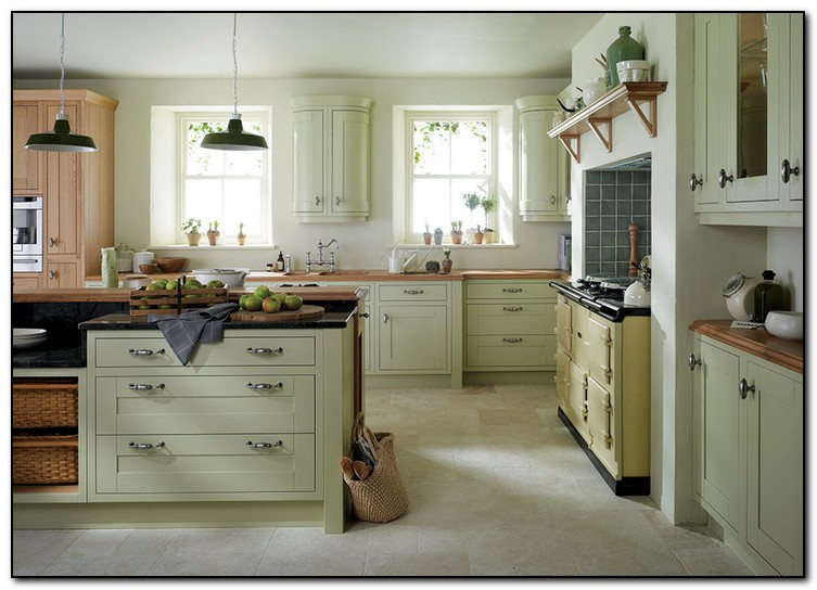 Recommended light green kitchen for you home and cabinet for Suggested kitchen layouts