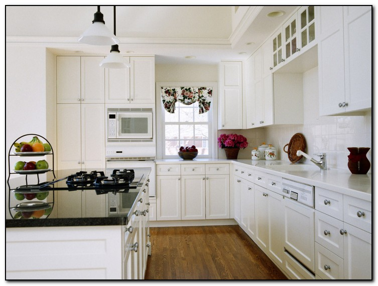 Painting wood kitchen cabinets white home and cabinet for How to paint white cabinets