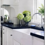 pictures of kitchens with black countertops
