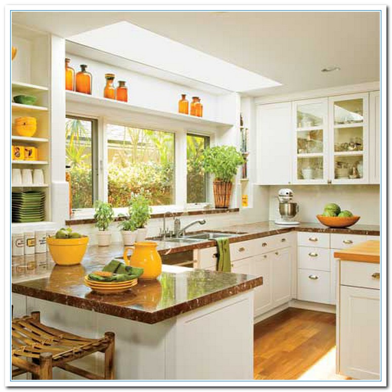 Working on simple kitchen ideas for simple design home for Kitchen decorating ideas for a small kitchen