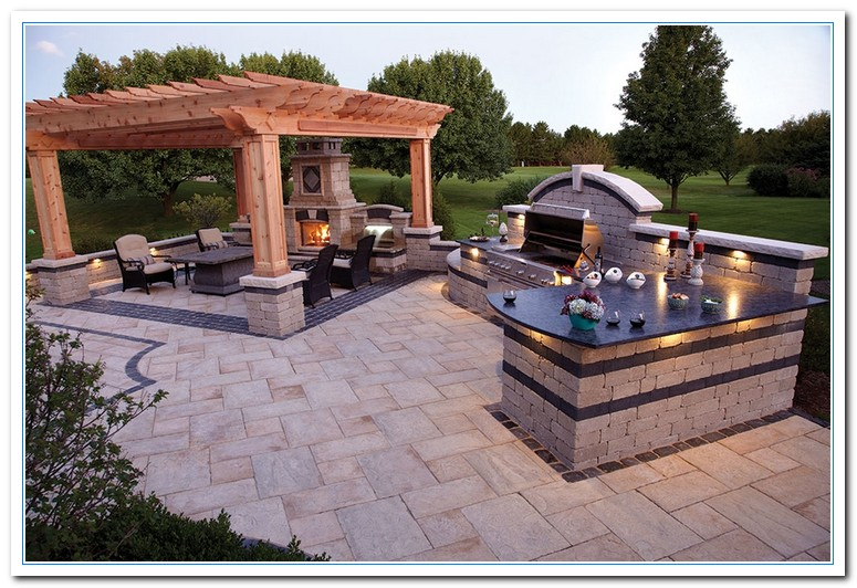Working on simple kitchen ideas for simple design home for Simple outdoor kitchen plans