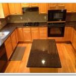 tan brown granite backsplash