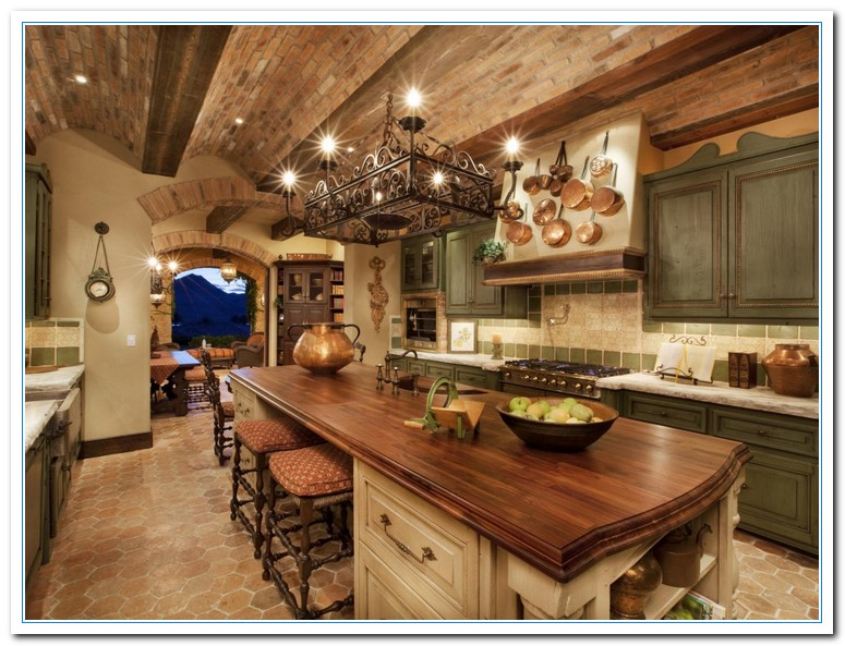 Tuscany designs as mediterranean kitchen ideas home and for Mediterranean style kitchen photos