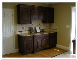 walnut cabinets kitchen