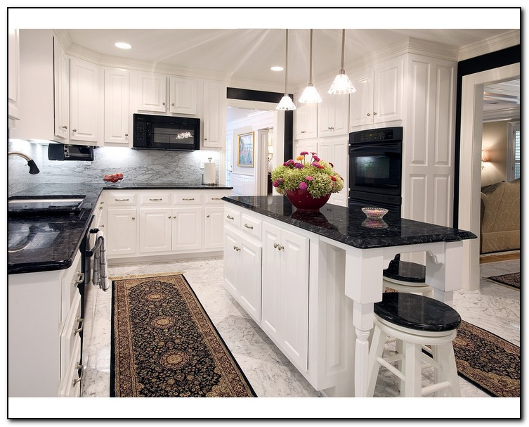 white kitchen cabinets with black granite countertops kitchen with black countertops for design home 28979