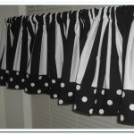 black and white kitchen valances
