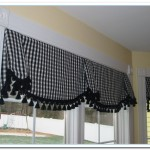 black and white valances kitchen
