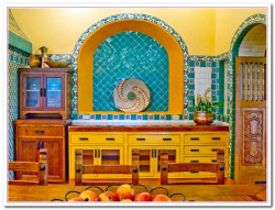 blue and yellow kitchen ideas