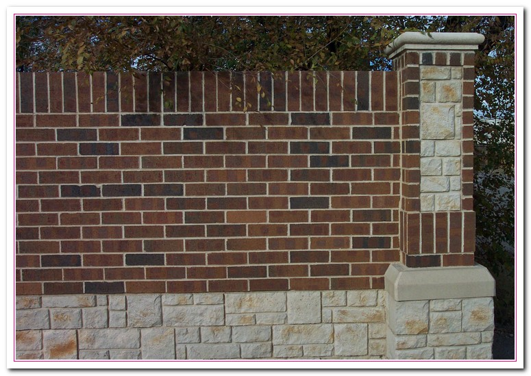 brick wall fence designs - Brick Wall Fence Designs