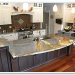 dark granite countertops with white cabinets