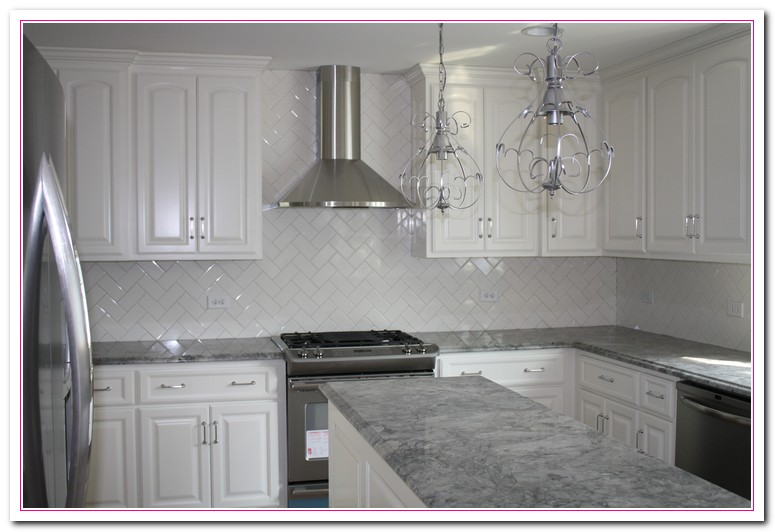 White Kitchen Cabinets With White Laminate Countertops