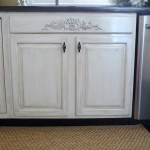 how to distress kitchen cabinets white