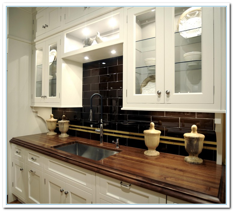 Countertops For White Kitchen Cabinets: White Cabinets Dark Countertops Details