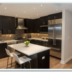 white countertops dark cabinets
