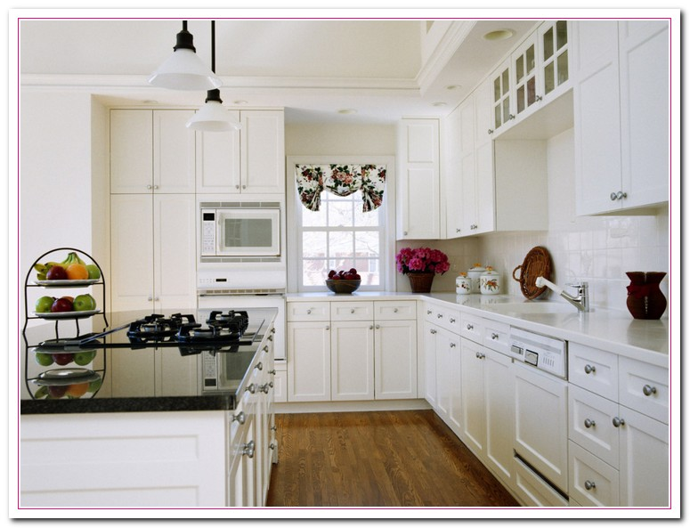 White kitchen design ideas within two tone kitchens home for Small white kitchen ideas