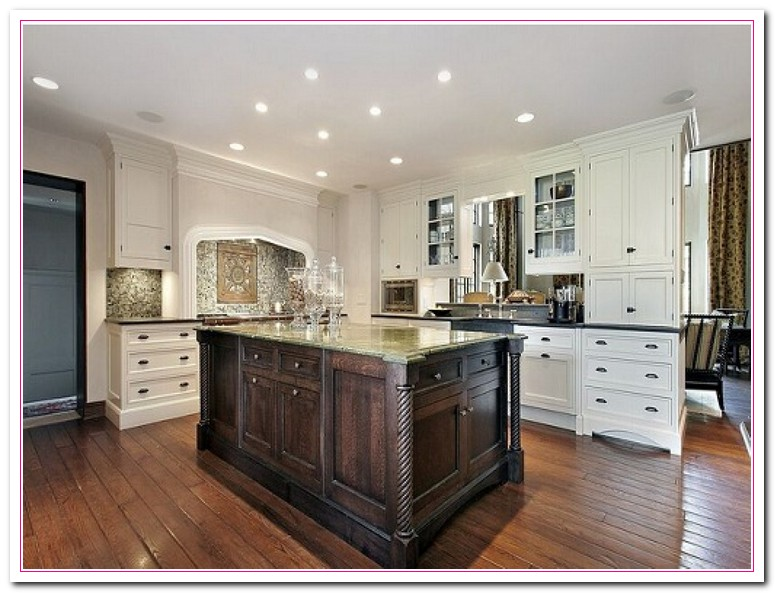 White kitchen design ideas within two tone kitchens home - White cabinet kitchen design ...