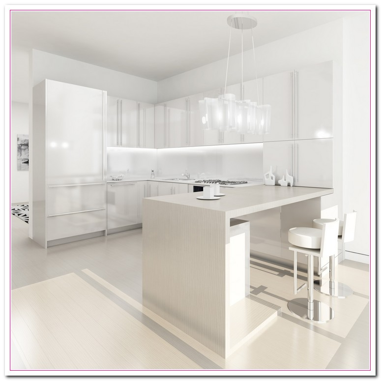 White kitchen design ideas within two tone kitchens home for Kitchen design white