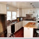 white washed kitchen cabinets