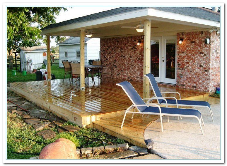 Decking ideas designs for patio home and cabinet reviews for Backyard deck pictures