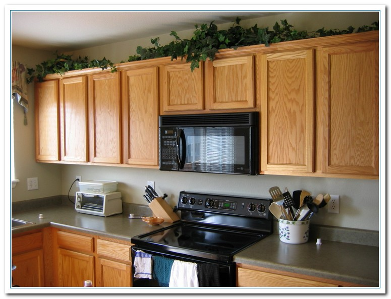 how to decorate top of kitchen cabinets for christmas tips for kitchen counters decor home and cabinet reviews 9895