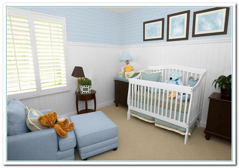Baby boy nursery paint color ideas best idea garden for Baby boy mural ideas